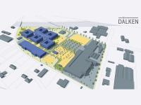 Die 3D-Visualisierung des EDEKA-Campus; Copyright: EDEKA