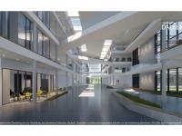 Der Entwurf der Magistrale des neuen EDEKA-Campus; Copyright: EDEKA