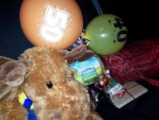 Bongo auf der Geburtstagsparty