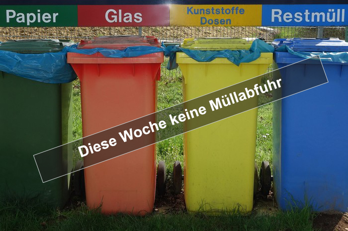 Diese Woche keine Müllabfuhr