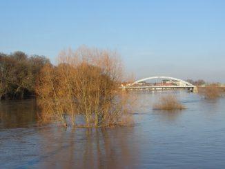 Hochwasser Weser Minden